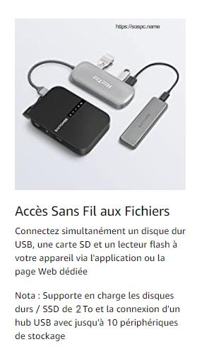 RAVPOWER FileHub Routeur