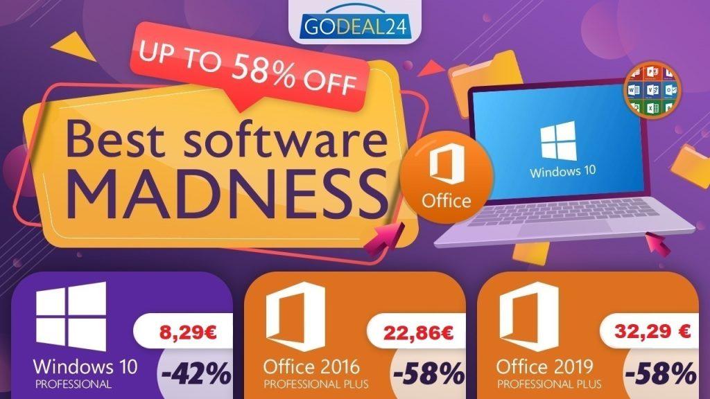 Ventes flashs valables une semaine seulement : Windows 10 PRO à 8,29 € et Office à partir de 22,86 € !
