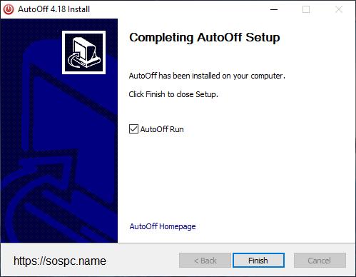 AutoOff version française
