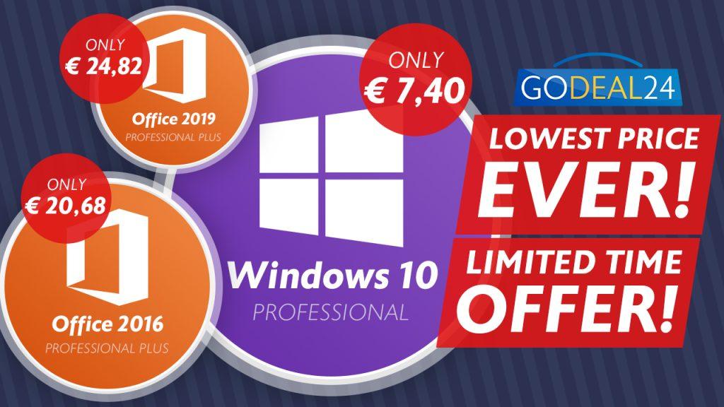 Obtenez Windows 10 à seulement 7,40 € lors de la vente flash d'automne de GoDeal24.com cette semaine seulement !