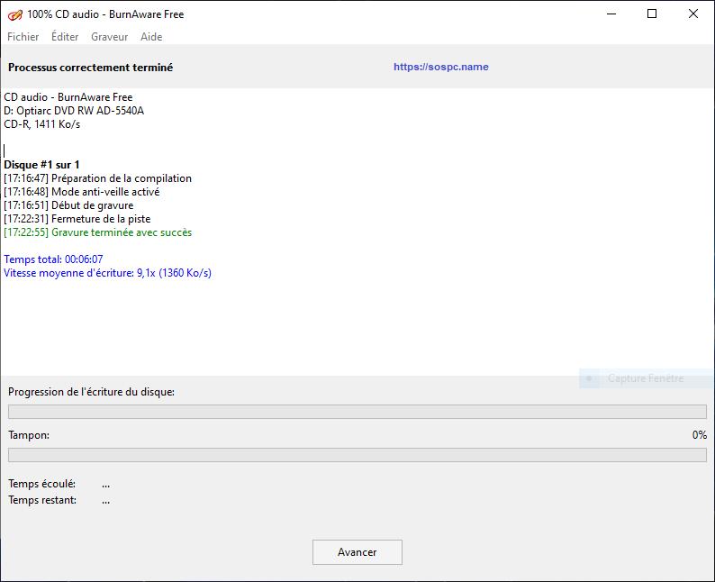 Test d'un lecteur / graveur externe USB 3