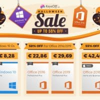Vente d'Halloween chez KeysOff.com, Windows 10 à seulement 7,70€ !