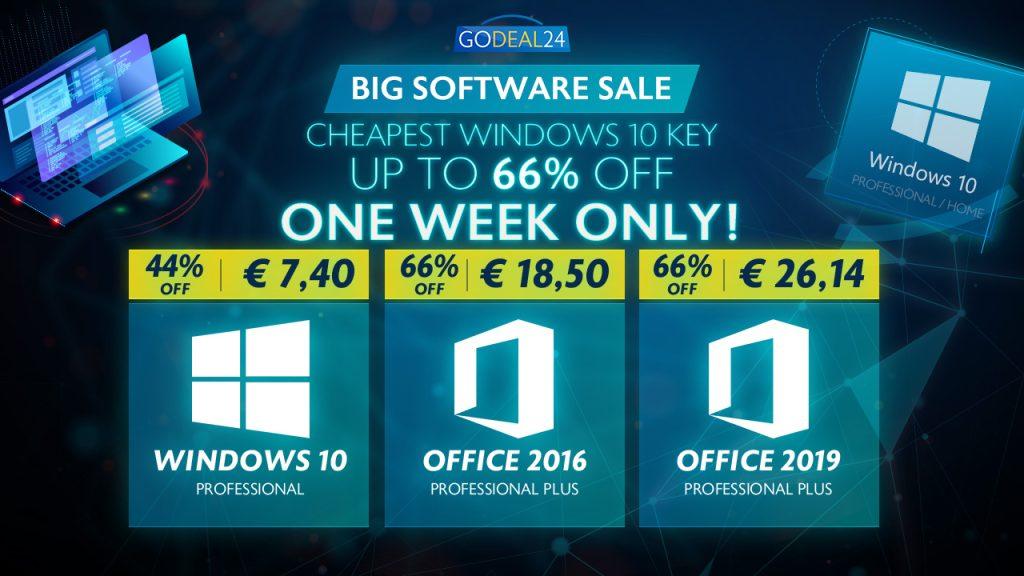 Vente flash chez GoDeal24.com : Windows 10 @ 6,06 € et OFFICE 2016 @ 18.50 € cette semaine seulement !