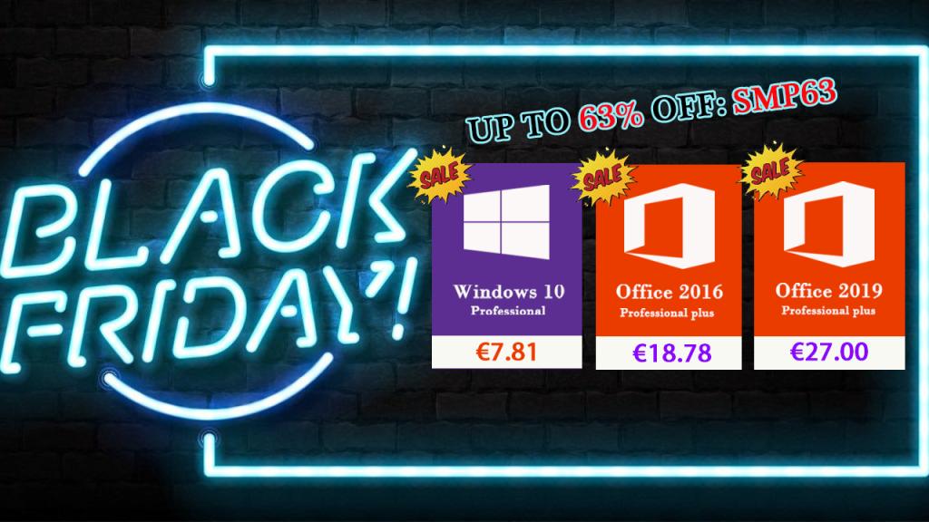 Black Friday: Windows 10 Pro à 7.81@ & Office 2016 Pro à 18.78€ !
