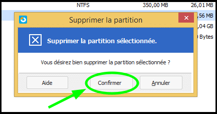 Comment fusionner 2 partitions sous Windows