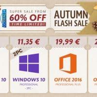 Obtenez Windows 10 à 7,35€ pendant les soldes d'automne de GoDeal24.com
